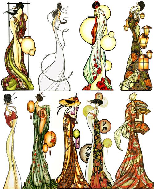 Brandi milne art deco crust station for Art deco illustration